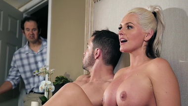 Sultry mom Alena Croft with big XXX spheres will give car keys for sex