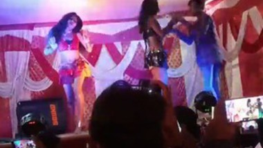 Indian very hot stage dance