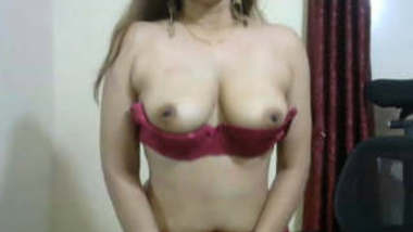 Horny Bhabhi Showing her milky white boobs and ass
