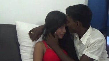 Skinny Desi stallion and ravishing girl have sex under blanket