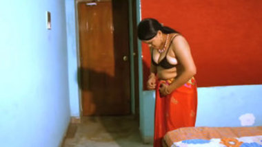 Romantic Housewife Story — Beautiful Housewife With Husband Friend — HINDI HOT SHORT FILM-MOVIE