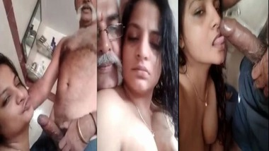 Big dick Indian uncle blowjob sex with younger girl